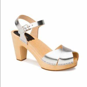 Swedish Hasbeens Silver Merci Sandal